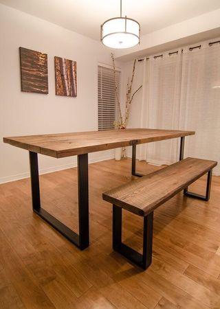 Mesa madera natural 160 x 90 de segunda mano por 400 en for Wallapop mesas