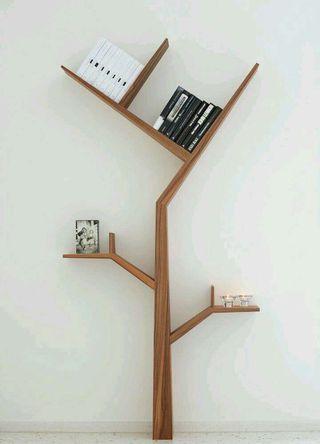 Estantería madera estilo árbol