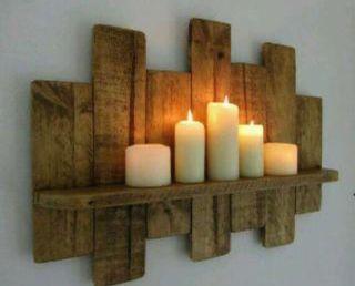 Estantería decoración madera