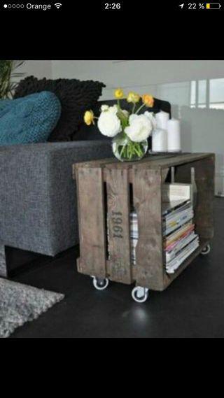 Mesa auxiliar estilo caja