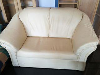 sofa beig polipiel