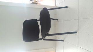 silla negro confidente
