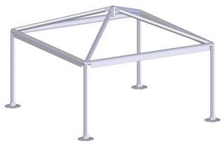 Estructura cenador aluminio