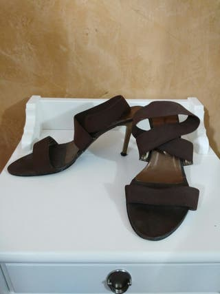 zapatos sandalias tacon 38