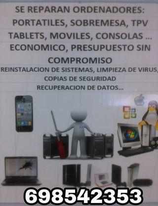 Reparación de pc móviles y tablets