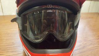 Casco motocross y gafas