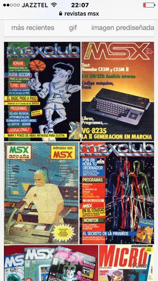 Centenares de revistas msx