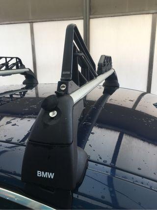 Portaesquis y portasnowboard tabla BMW original