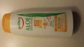 crema sar Aloe marca equibriaPara pieles delicadas.Nueva a estrenar