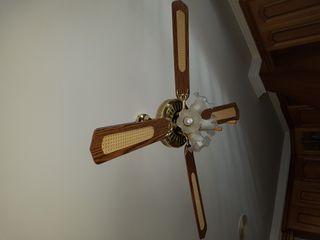 lámpara ventilador roto para despiece