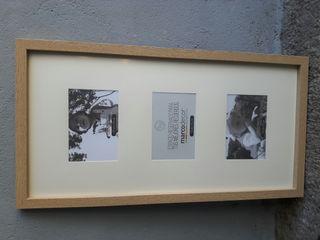 Porta fotos 10 x 15 triptico 53 x 33 madera