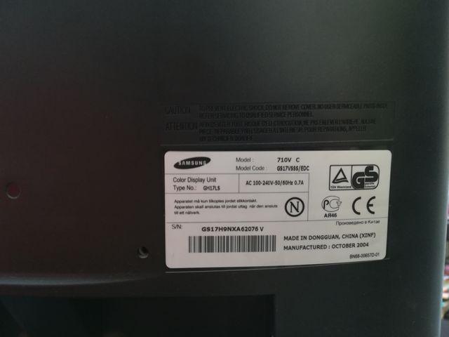 """Pantalla ordenador 17"""" Samsung"""
