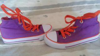 zapatillas niña lona