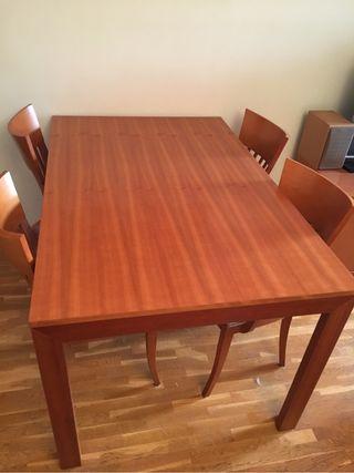 Mesa comedor madera extensible