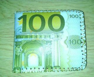 billetera 100 euros nueva
