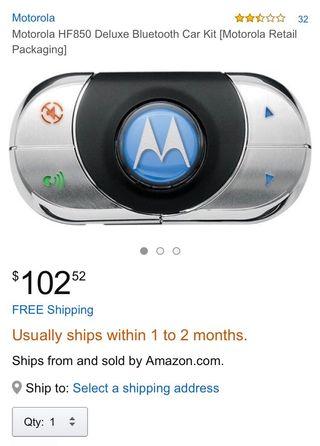Bluetooth manoslibres Motorola