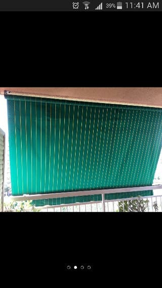 toldo color verde con rallas