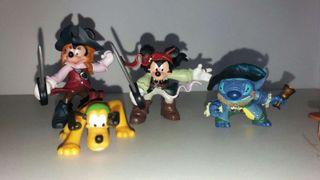 Disney store playset piratas mickey minnie stich pluto