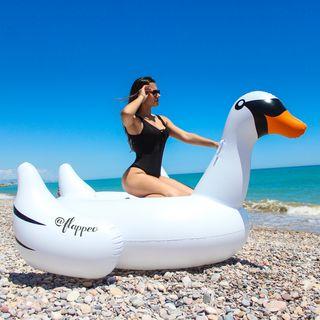Flotador Gigante Cisne Blanco - Hinchador - 24h