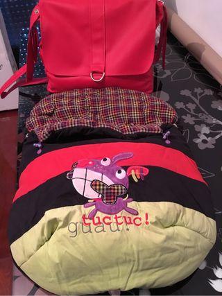 Saco bebé tuc tuc + bolsa