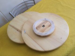 Bandeja Giratoria de madera