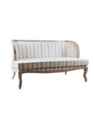 Sofa madera y poliester rayas