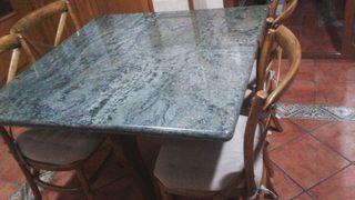 mesa madera y granito importacion
