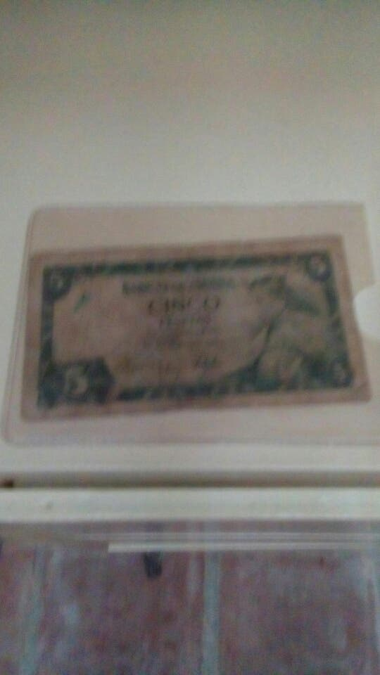 billete de 5 pesetas