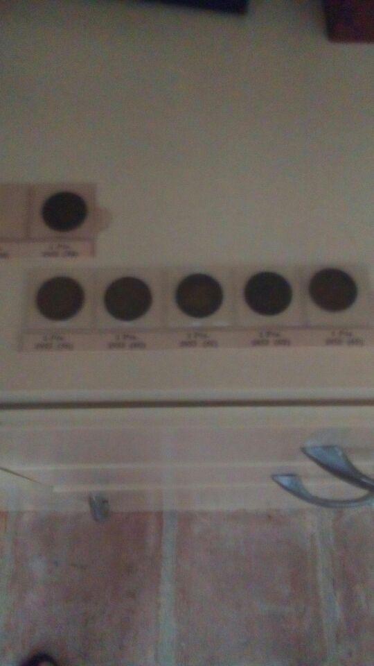 lote de 6 monedas de una peseta de Franco