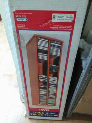 Torre cd's de madera nuevo a estrenar