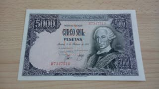 5000 pesetas 1976 plancha