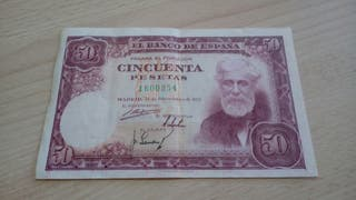 50 pesetas 1951 sin serie