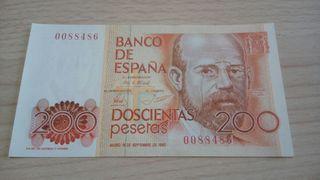 200 pesetas numero bajo