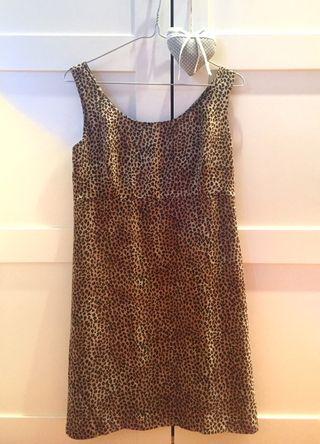Vestido leopardo vintage