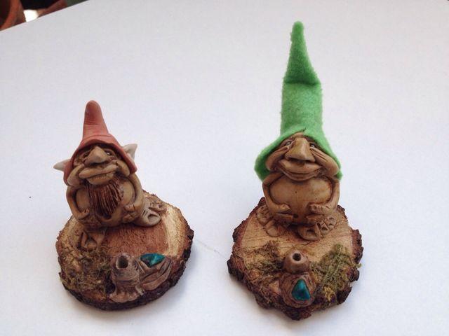 Duendes figura artesanal estatuillas
