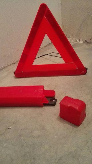 Juego de triángulos de seguridad coche.