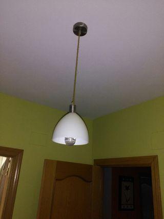 se vende dos lamparas de cristal