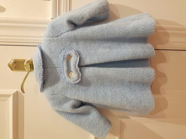 Abrigo bebé borreguito azul