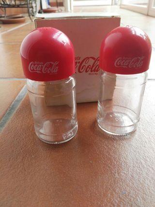 juego de saleros de CocaCola