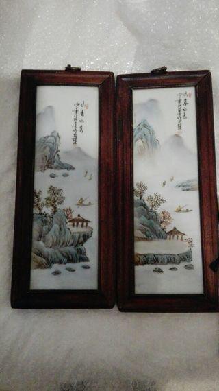 Preciosas placas chinas antiguas
