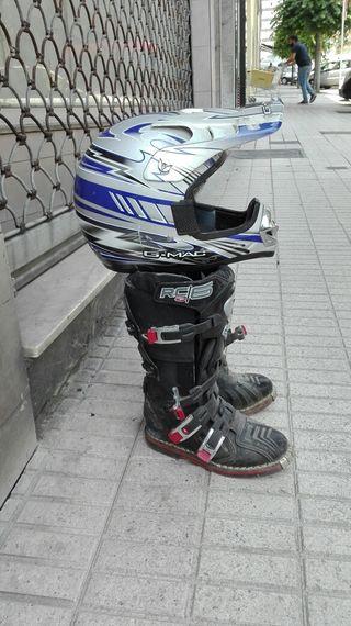 Botas y Casco Motocross