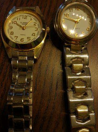 Dos relojes de mujer. Marca Geneva y Classic