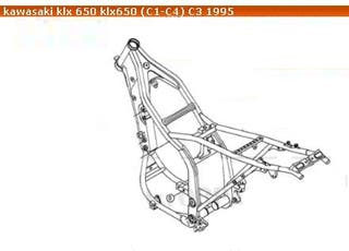KLX 650 E, 94' Kawasaki, Chasis documentado