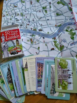 mapa y tarjetas londres niños
