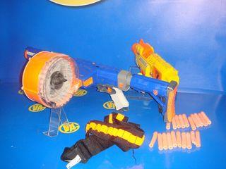 juguete Nerf raider cs.35 + barricade + balas