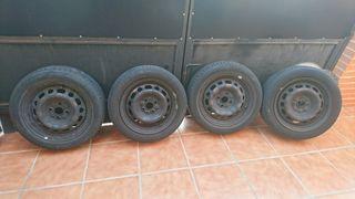"""llantas acero 15"""" 4 tornillos + ruedas 185/55r15"""