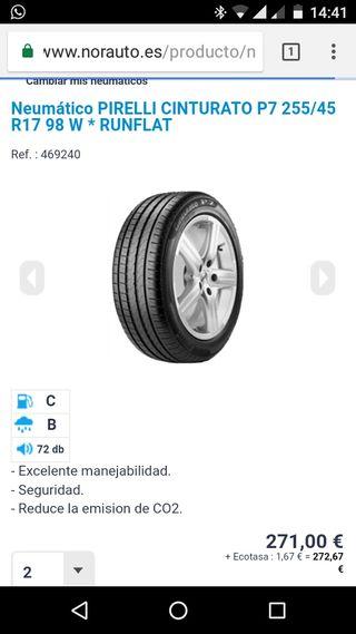 Cubiera Pirelli 255 45 R17 98 W