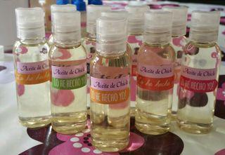 Aceite de almendra con aroma de chicle