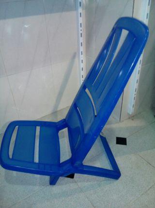 2 sillas playa plegables