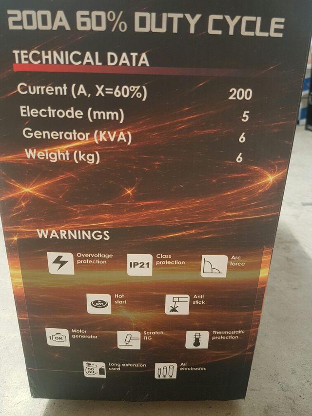 Máquina nueva inverter 200 amperios soldar electro
